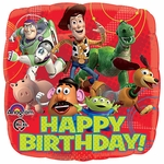 "17"" Toy Story Gang Happy Birthday Helium Savers Balloon"