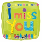 "17"" Young Art I Miss You Helium Savers Balloon"