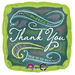 "17"" Chalkboard Thank You Helium Savers Balloon"
