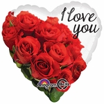 """17"""" I Love You Rose Bouquet Helium Savers Balloon"""