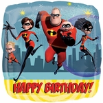 "17"" Incredibles 2 Happy Birthday Helium Saver Balloon"