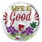 "17"" Life is Good Helium Saver Balloon"