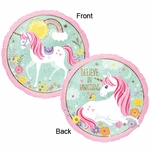 "17"" Magical Unicorn Holographic Helium Saver Balloon"