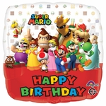 "17"" Mario Bros. Happy Birthday Helium Saver Balloon"