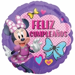 "17"" Minnie Happy Helpers Feliz Cumpleanos Helium Saver Balloon"