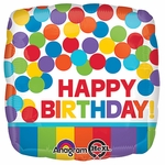 "17"" Primary Rainbow Birthday Helium Savers Balloon"