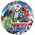 "17"" Standard Avengers Happy Birthday Helium Saver Balloon"