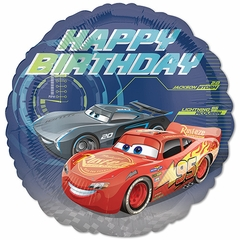 "17"" Standard Cars 3 Happy Birthday Helium SaverBalloon"