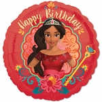 "17"" Standard Elana of Avalor Happy Birthday Helium Saver Balloon"