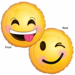 "17"" Standard Emoticon Smile Helium Saver Balloon"
