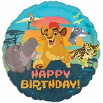 "17"" Standard Lion Guard Happy Birthday Helium Saver Balloon"