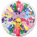 "17"" Standard My Little Pony Gang Helium Saver Balloon"