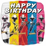 "17"" Standard Power Rangers - Ninja Steel Happy Birthday Helium Saver Balloon"