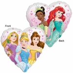 "17"" Standard Princess Dream Big Heart Helium Saver Balloon"