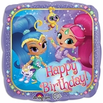 "17"" Standard Shimmer & Shine Happy Birthday Helium Saver Balloon"