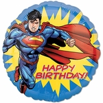 "17"" Standard Superman-Happy Birthday Helium Saver Balloon"