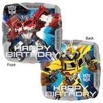 "17"" Standard Transformer Animated Happy Birthday Helium Saver Balloon"