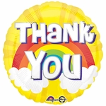 "17"" Thank you Rainbow Helium Saver Balloon"