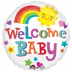 "17"" Welcome Baby Bright & Bold Helium Saver Balloon"