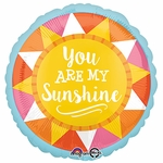 "17"" You Are My Sunshine Helium Savers Balloon"