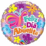 "18"" Abuelita Butterfly & Flowers Balloon"