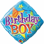 "18"" Birthday Boy Stars Balloon"