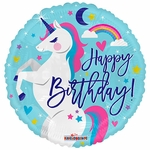 "18"" PR Birthday Unicorn  Balloon"