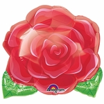 "18"" Blooming Red Rose Balloon"