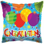"18"" BV Congratulations Patterened Balloons"