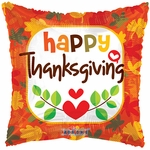 "18"" BV Orange Thanksgiving Balloon"