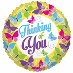 "18"" BV Thinking of You Butterflies Balloon"