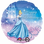 "18"" Cinderella Happy Birthday Balloon"