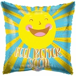 "18"" Feel Better Happy Sun Balloon"