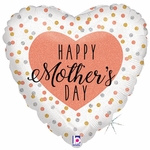 """18"""" Glittering Rose Gold Mother's Day Balloon"""