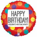 "18"" Hashtag Birthday Balloon"