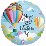 "18"" Hope Things Are Looking Up Holographic Balloon"