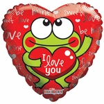 "18"" I Love You Frog Balloon"