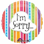 "17"" I'm Sorry Colorful Lines Helium Savers Balloon"
