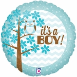 "18"" It's a Boy Owl Balloon"