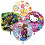 """18"""" Licensed Character Balloon Assortment with Ribbon"""