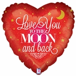"""18"""" Love You to the Moon Balloon"""