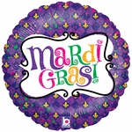 "18"" Mardi Gras Celebration Balloon"