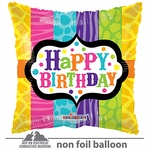 "18"" Animal Print Birthday Gellibean Balloon"
