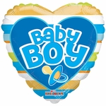 "18"" PR Baby Boy Big Letters Balloon"