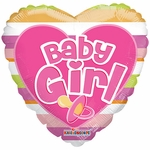 "18"" PR Baby Girl Big Letters Balloon"