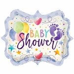"18"" PR Baby Shower Watercolor Shape Balloon"