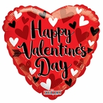 "18"" PR Happy Valentine's Day Small Hearts Gellibean Balloon"
