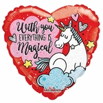 "18"" PR Unicorn Love Holographic Balloon"