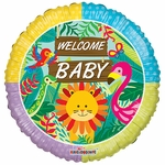"18"" PR Welcome Baby Jungle Balloon"