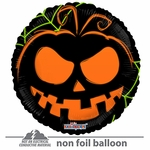 "18"" Pumpkin Face Neon Gellibean Balloon"